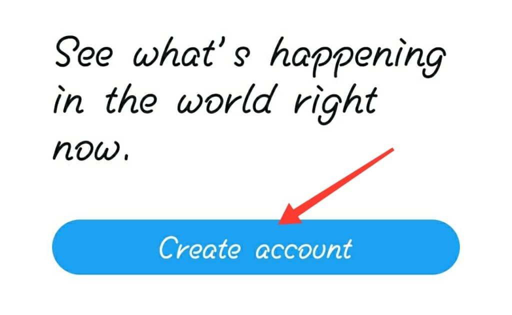 twitter create account