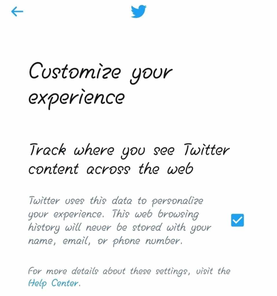 twitter create account step 3