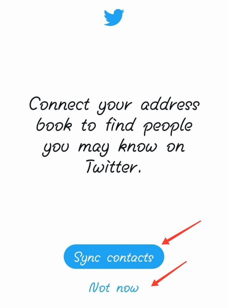 twitter create finish sync