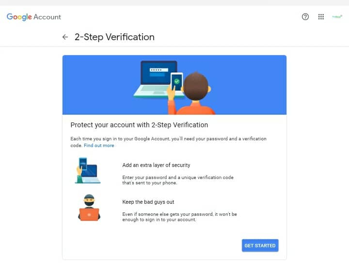 gmail-2 step verification